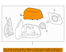 FORD OEM Door Side Rear View-Mirror Cover Cap Trim Right 7C3Z17D742A