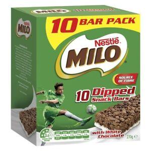 Nestle Milo Dipped Snack Bars 10 Pack 270g
