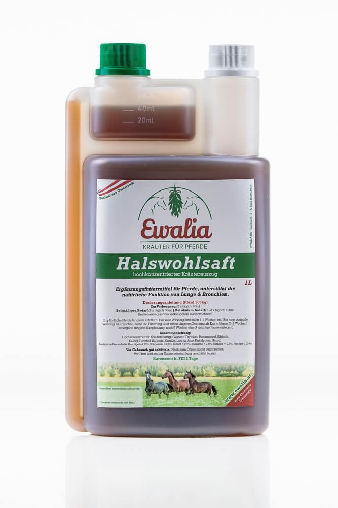 6L Kur  Ewalia Halswohlsaft Pferd Husten Atemwegsprobleme Infekt Dämpfigkeit