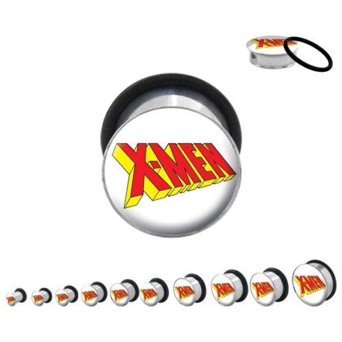 X-Men Symbol Logo Marvel Comics Body Jewelry Plugs
