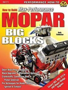 How To Rebuild Big Block Mopar B /& Rb 440 426W 413 400 /& 383 Engines Manual Book