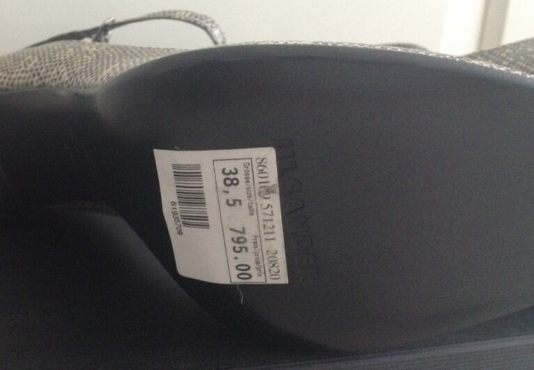 Original High Jil Sander Leder Pumps High Original Heels Gr. 38,5 *NEU* 42aeed