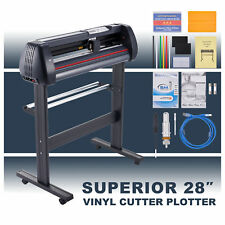 28 Vinyl Cutter Plotter Sign Cutting Machine With Software 2 Blades Lcd Screen