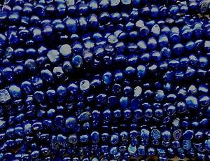 New-loose-freshwater-bead-Deep-Blue-5-6mm-Baroque-Pearls-excellent-13-039-039-044