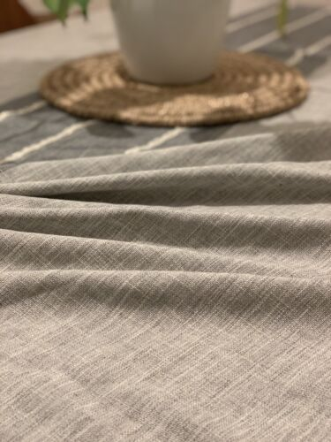JK Home /& Office Tassel Tablecloth Cotton Linen Fabric Gray 55x70 Washable