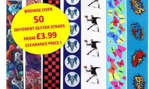 Selection-of-Acoustic-Electric-Bass-Adjustable-Guitar-Straps-Deal-Clearance-UK