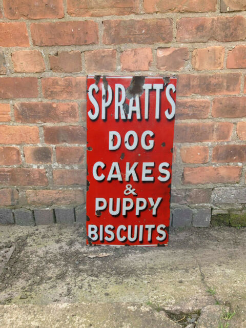 Spratts Dog Food Red Large 24x12inch Reproduction VINTAGE ENAMEL METAL TIN SIGN