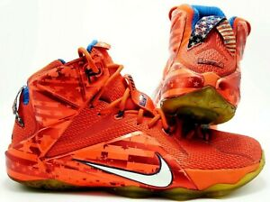 da1d54c4275d Nike LeBron XII 12 USA Independence Day 4th July Crimson 684593-616 ...