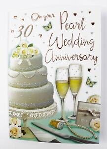 Anniversario Di Matrimonio 30.Felice 30th Anniversario Di Matrimonio Biglietto D Auguri Busta