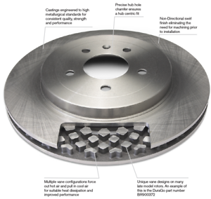 2010 2011 Fit Chrysler Town /& Country OE Replacement Rotors w//Metallic Pads F+R