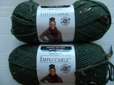 Luxury 192 yards each Loops/&Threads Impeccable yarn lot of 2