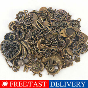 Vintage-50g-pack-Jewelry-Making-Mixed-Charms-Pendants-Random-Shape-DIY-Crafts-IL
