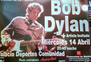 BOB-DYLAN-MADRID-SPANISH-BIG-PROMO-POSTER-100cm-X-140cm-RARO