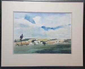 GERALDINE-GIRVAN-b1947-large-original-signed-water-colour-countryside-scene