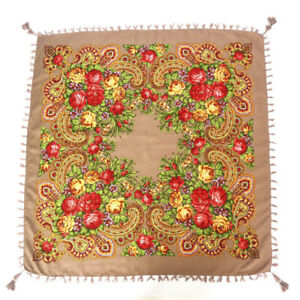 AUTHENTIQUE-Foulard-Chale-Russe-en-coton