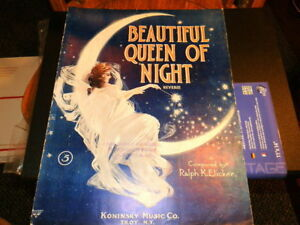 #8963, Belle Reine De La Nuit, Elicker, 1910, Sheet Music-l Queen Of Night,elicker,1910,sheet Music Fr-fr Afficher Le Titre D'origine Les Clients D'Abord
