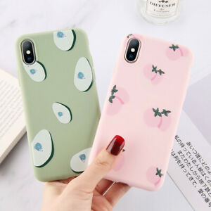 Cute-Fruit-Patterns-Ultra-Thin-Silicone-Phone-Case-Cover-For-iPhone-XS-Max-8-6-5