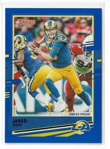 2020-Panini-Donruss-football-Blue-press-proof-photo-Variation-141-Jared-Goff