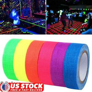 1/3/6 Roll UV Reactive Tape 5M Blacklight Self-adhesive Tape Glow in The Dark US
