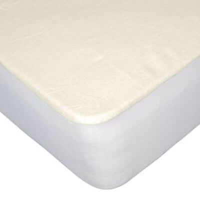 "Single Double King Extra Deep 12"" Fitted Fleece Mattress Protector Sheet Bedding"