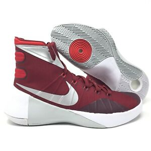 huge selection of f1315 01d5c Image is loading Nike-Hyperdunk-2015-TB-Team-Red-White-Silver-