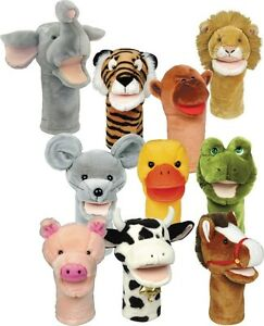 Get Ready Kids Set Of 10 Bigmouth Animal Puppets - 200999 Animal Puppets NEW