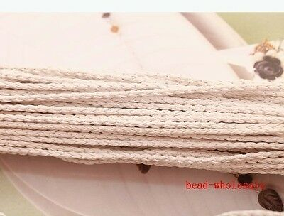 5m Man-made Leather Braid Rope Hemp Cord For Korean Necklace/Bracelet DIY 3mm