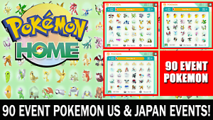 Pokemon Home Sword and Shield 90 Event Pokemon! Living Dex / National Dex