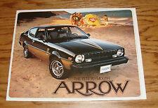 Original 1978 Plymouth Arrow Sales Brochure 78