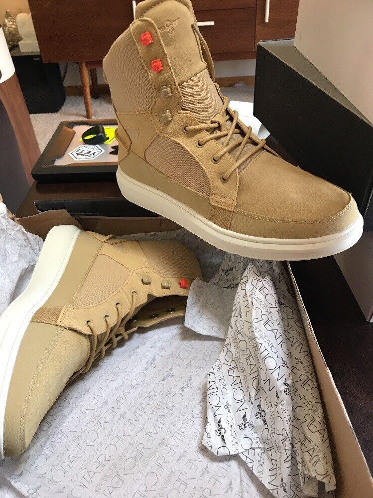 Creative Recreation Men's Desimo Sand Tan Boots Fashion Sneakers 11