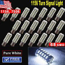 20X Pure White 1156 RV Camper Trailer 68SMD LED CEC1141 1003 Interior Light Bulb