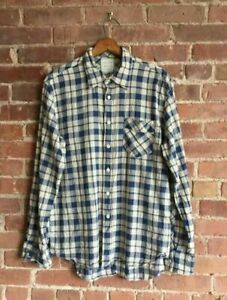 Billy-Reid-Men-s-Shirt-Linen-Cotton-Size-Medium-Standard-Cut