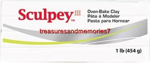 White or Beige SUPER SCULPEY Oven Bake Clay 1 lb Your Choice Black