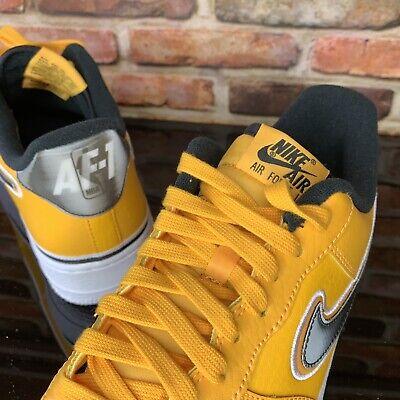 Nike Air Force 1 07 LV8 Sport NBA PACK LAKERS Mens 10.5 University Gold White 666032371657   eBay