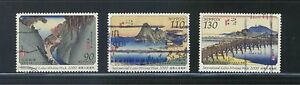 JAPAN-2000-INT-039-L-LETTER-WRITING-WEEK-PAINTINGS-COMP-SET-OF-3-STAMPS-FINE-USED