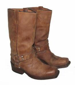034-BUFFALO-034-Western-Stiefel-Lederstiefel-Biker-Boots-in-braun-ca-41-5