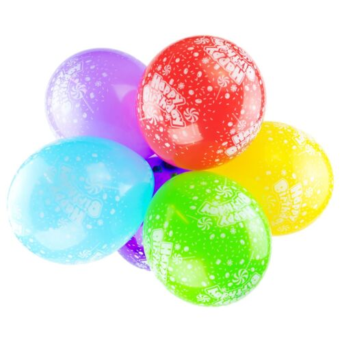 """12/"""" Mix Colour Happy Birthday Printed Latex Balloons Party Decorations Balloon"""