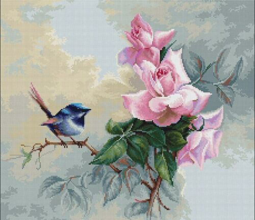 "/""Birdie/"" Counted Cross Stitch Kit Luca-S B2313"