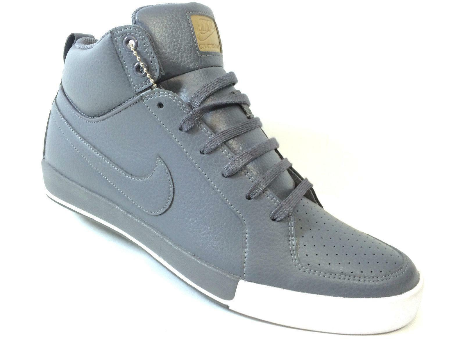 Mens NIKE COURT RESONATE MID LEATHER Trainers 534833 0027.5  EUR 42 US 8.5