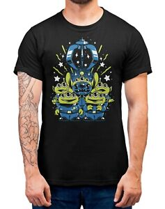 Aliens-amp-Stitch-Toy-Story-Halloween-T-Shirt-Adults-Sizes-Black-100-Cotton-Shirt