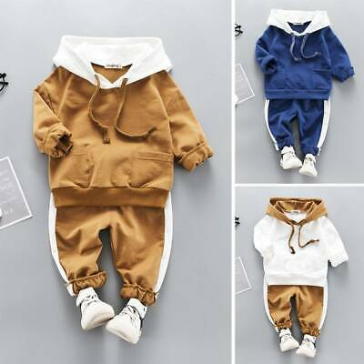 Newborn Baby Boy Girl Clothes Bear Hooded Tops Pants Cartoon Tracksuit Outfit UK
