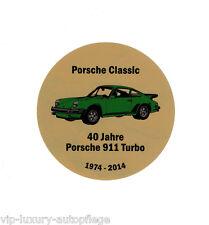 Porsche Classic 40 Jahre Porsche 911 Turbo G-Modell  1974 - 2014 Aufkleber