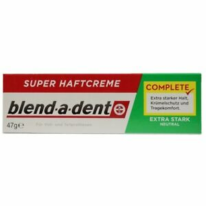 German-blend-a-dent-Super-Denture-Adhesive-Cream-Extra-Stark-NEUTRAL-Green-47g