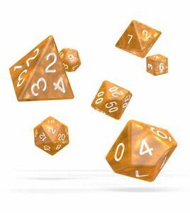 Oakie Doakie Dados RPG Cubo Set Marble Naranja (7) Rol Cubo Box