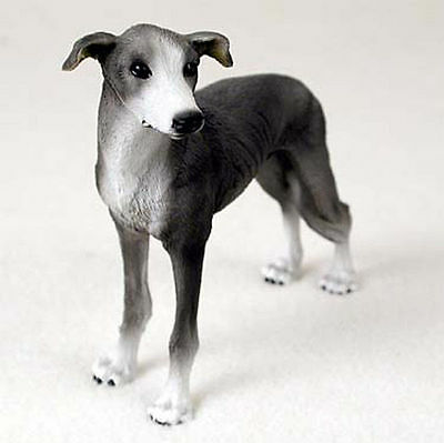 Greyhound Hand Painted Collectible Dog Figurine Gray