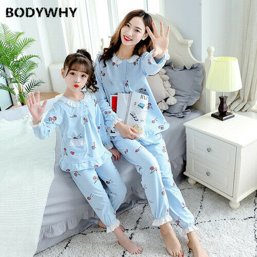 Mother and daughter pajamas children/'s pajamas fashion home service suit cotton