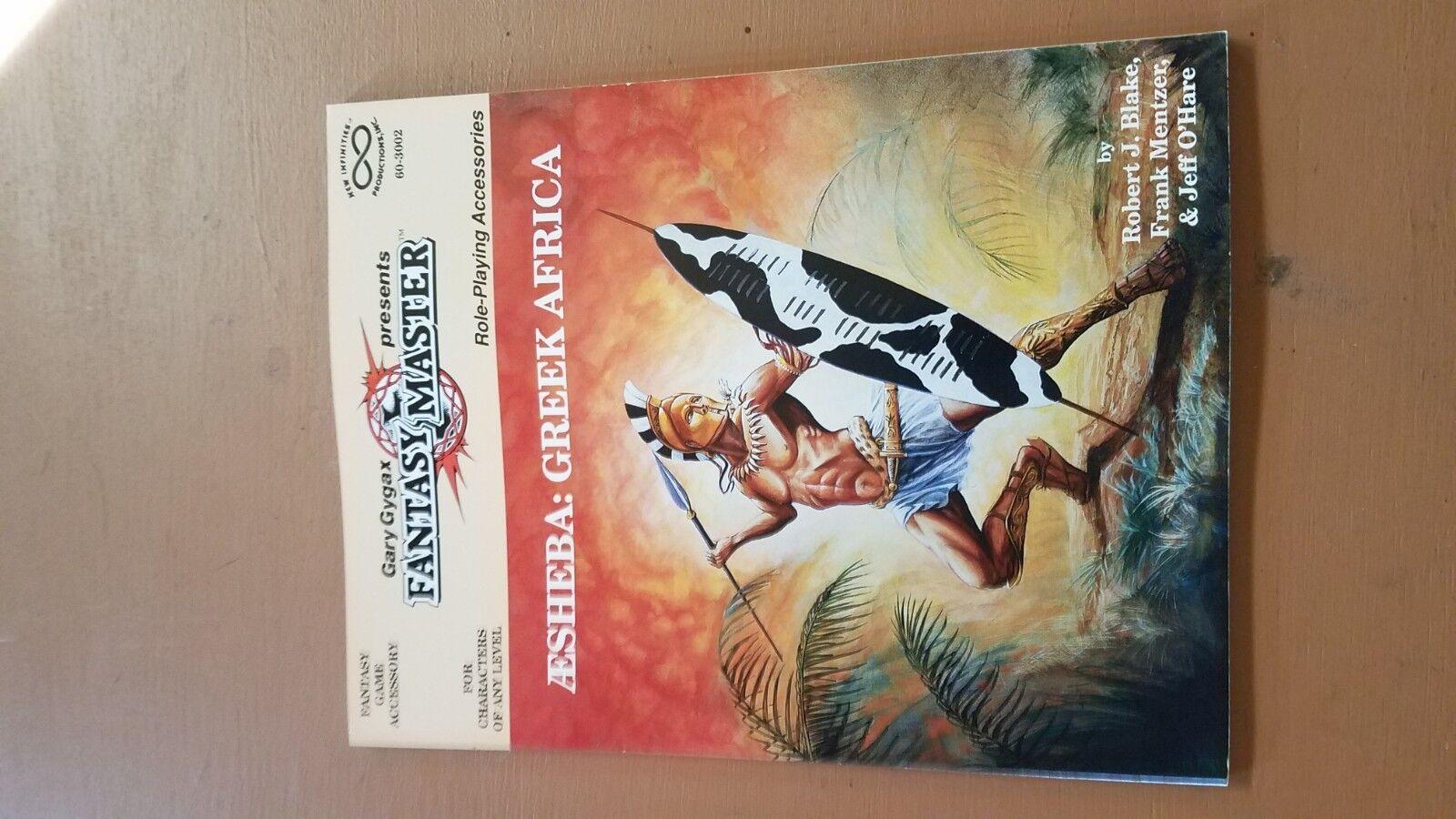 Infinity  Gary Gygax Presents Fantasy Masters AD&D - AESHEBA  GREEK AFRICA + map