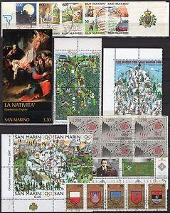 San-Marino-Lotto-di-25-francobolli-2-libretti-1962-2006-Usati