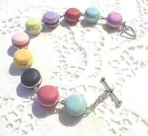 BRACELET-Macarons-1-2cm-en-Fimo-Bijou-fantaisie-Unique-A-offrir-ou-a-s-039-offrir