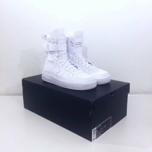 mieux aimé 54b93 b9d1a Details about Nike Air Force 1 SF QS Special Field Hi AF Triple White /  Blanc UK 6 Brand New I